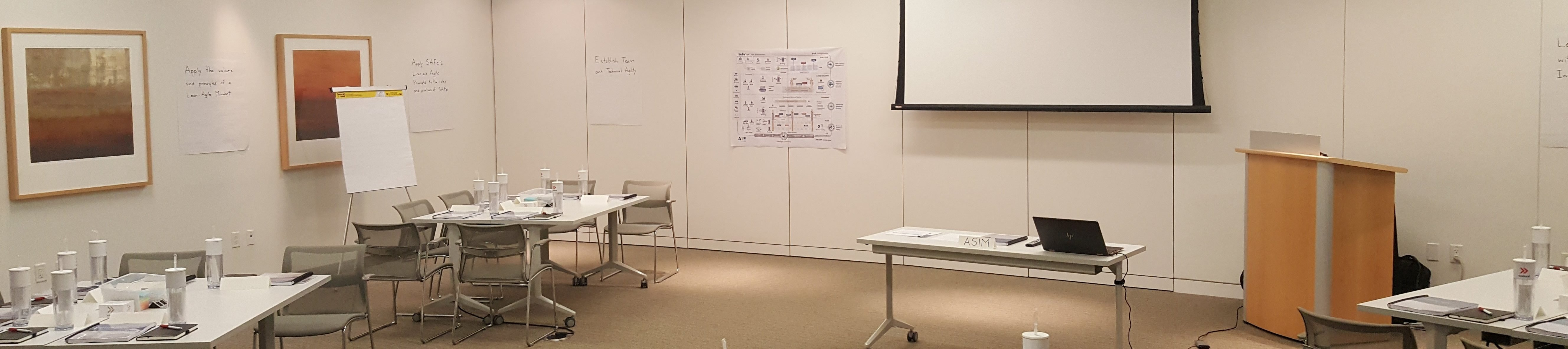 Scaled Agile Training Classroom